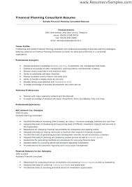 Financial Advisor Resume Samples Financial Consultant Resume Sample