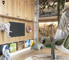 jungle themed kids bedroom by we
