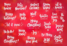 Holiday Wishes Quotes Adorable Set Of Holiday Greeting Quotes And Wishes Hand Drawn Text Stock