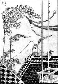 七夕の不二の原画ー北斎の富嶽百景の塗り絵