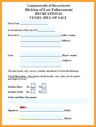 Jet Ski Bill Of Sale Free Watercraft Or Boat Bill Of Sale Form ...