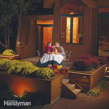 how to install deck lighting the family handyman how to install deck lighting