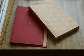 picture of binding a journal from an old book