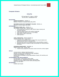 Resume Bs Computer Science Computer Science Resume Samples