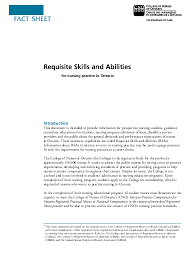 Pdf Fact Sheet Requisite Skills And Abilities Kath Tobias
