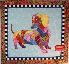 Dog Quilt Patterns Amazing BJ Designs Patterns Dagwood The Dachshund Wiener Dog Applique