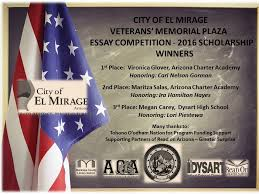 salute to veterans essay scholarship winner el mirage az salute to veterans essay scholarship winner