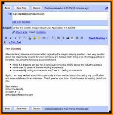 Sending Resume Email