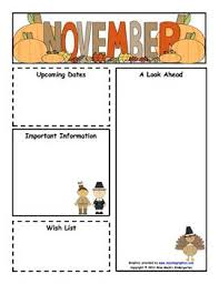 october newsletter ideas classroom newsletter templates free download november monthly
