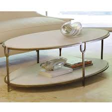 attractive oval white stones top and single tier shelves as storage as inspiring stone coffee table and creamy fabric chaise lounge couch views