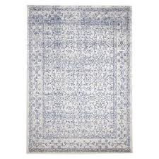 evoke depth turkish made oriental rug 330x240cm white