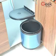 kitchen trash can with lid. Kitchen Trash Can With Lid Factory Quality Stainless Steel Pivot Out Door Intended For Mounted Garbage Decorating L