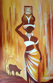 africa fsc beautiful african woman canvas painting wooden wall art frame