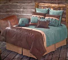 turquoise and brown comforter set in native american themed southwest style bedding