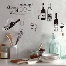 Lakeside metal holiday santa wine bottle and glass holder stand decoration. Wine Bottle Wall Stickers Cupboard Wardrobe Decal Bar Window Art Decor Buy From 8 On Joom E Commerce Platform