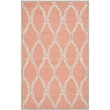 Safavieh Handmade Moroccan Cambridge Coral and Ivory Wool Rug