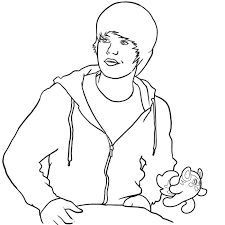 Small Picture Printable Coloring Pages Of Justin Bieber Coloring Home