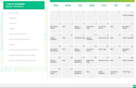 website that makes a fitness plan and calendar for you based on your goals