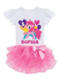 Little Pony Shirt Design My Little Pony Personalized My Little Pony Pinkie Pie Birthday Toddler Girls Tutu T Shirt Walmart Com
