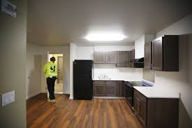 inside front door apartment. The Front Door Is Worked On Inside A Three-bedroom Apartment At Mercy  Othello Plaza