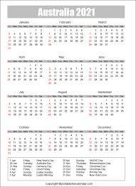 Hundreds of free printable calendars for you to print on demand. Australia Calendar 2021 With Holidays Free Printable Template Printable The Calendar