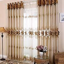luxury curtains for living room. hjmeifu embroidery window treatment sets luxury curtains for living room set of 2 panels 54 x i
