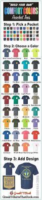 Comfort Colors T Shirts Color Chart 43 Best Tshirt Colors Images Tshirt Colors T Shirt