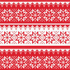 Nordic Pattern Best Nordic Seamless Christmas Red Pattern By RedKoala GraphicRiver