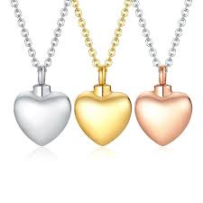 heart urn pendant necklace cremation