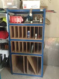stained glass sheet storage shelving unit