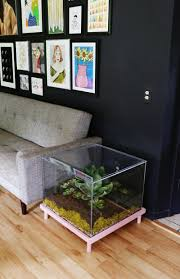 Coffee Table, Amusing Clear Square Modern Terrarium Coffee Table Idea For  Living Room Furniture: ...