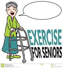 Exercising Senior Lady With Walker Stock Vector Illustration Of