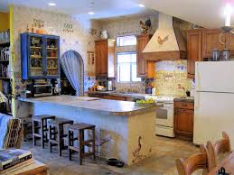 decorative kitchen wall tiles. European Style Country Kitchen. Full View Of The Kitchen With All Decorative Tiles Wall
