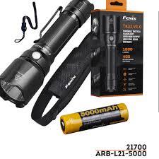 Fenix Lights Us 94 56 14 Off Fenix Tk22 V2 0 Tactical Flashlight 1600 Lumens With Fenix Rechargeable 21700 Li Ion Battery 5000 Mah In Led Flashlights From Lights