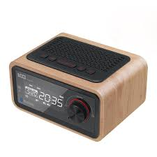 loci wireless bluetooth wooden speakers radio cassette player portable multi media mini alarm clock sound subwoofer alarm clock at banggood sold out