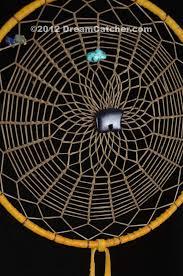 Spider Web Dream Catcher Simple Triple Weave Navajo Dream Catcher With Blue Goldstone Bear32 Inch