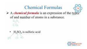 chemistry lesson chemical formulas get chemistry help