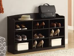 shoe storage furniture for entryway. entryway shoes storage idea made of black stained wood shoe furniture for t