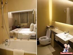 toilet bathroom bathtub open concept ramada hotel singapore staycation balestier heritage trail novena mrt days inn