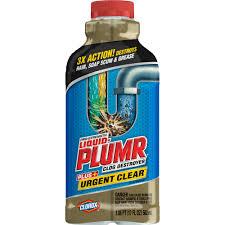 liquid plumr pro strength clog remover urgent clear 17 oz com