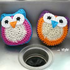 Free Crochet Patterns For Scrubbies Amazing Crochet Owl Scrubbie Pattern Lots Of Cute Ideas The WHOot