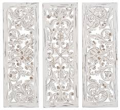 rustic carved wood ornate wall panels