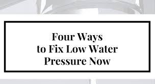 low water pressure shower