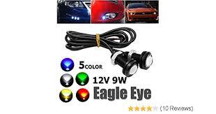LED Eagle Eyes Maso 2 Pcs <b>12V 9W Car</b> Daytime Running DRL ...