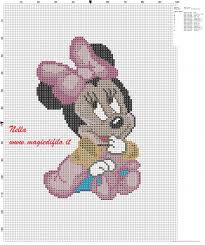 Baby Minnie Mouse With Dress And Shoes Free Cross Stitch