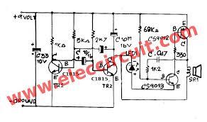 simple loud buzzer circuit using transistors eleccircuit com trembling sound buzzer circuit