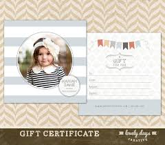 gift certificate photography gift certificate template for photographers instant
