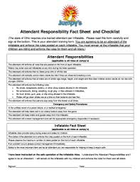 Attendant Sheet Fillable Online Attendant Responsibility Fact Sheet And