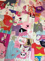 Memory Quilt Custom Made with Baby Clothes  1st Year Quilt ... & Memory Quilt Custom Made with Baby Clothes