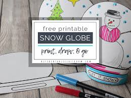 Free Craft Printables Templates Make A Snowglobe Print Draw Stand Up Template The